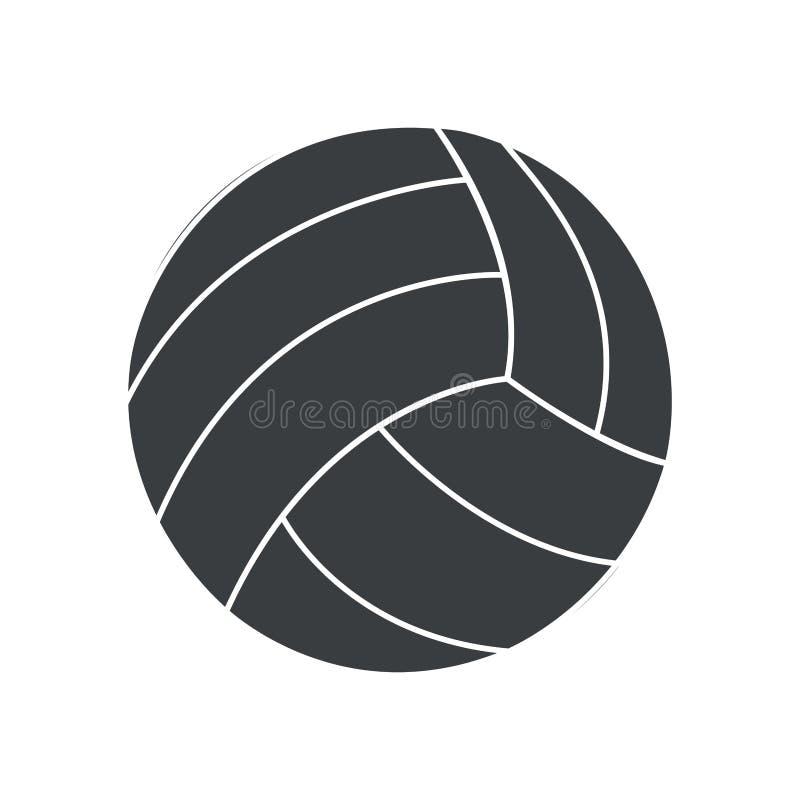 icona di sport di pallavolo della palla della siluetta royalty illustrazione gratis