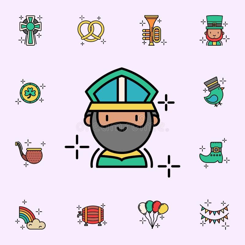 Icona di St Patrick Insieme universale delle icone di giorno di StPatricks per il web ed il cellulare illustrazione di stock