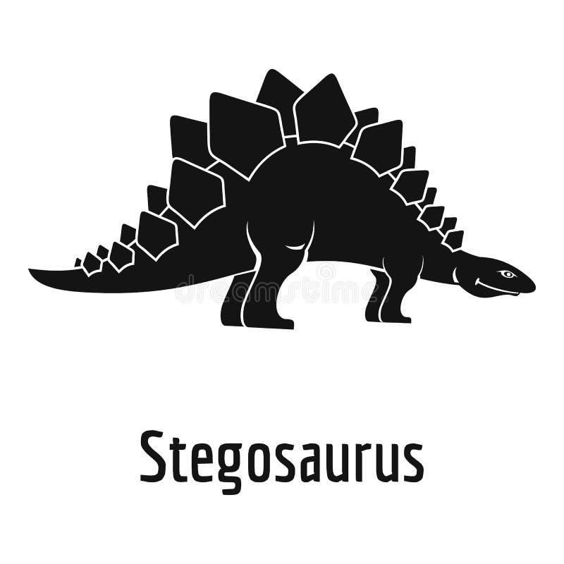 Icona di stegosauro, stile semplice illustrazione vettoriale
