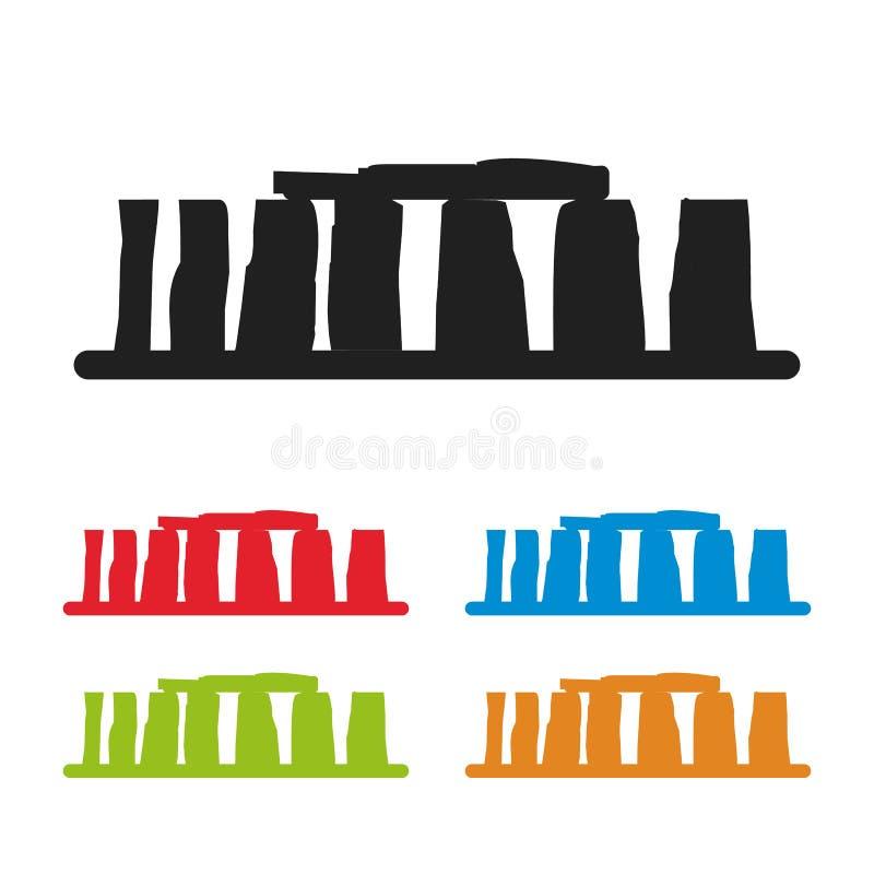 Icona di Stonehenge isolata su fondo bianco Illustrazione di vettore illustrazione vettoriale