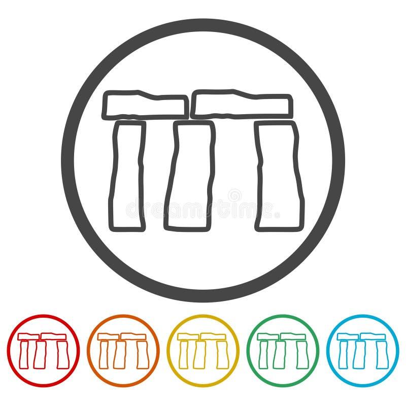 Icona di Stonehenge illustrazione vettoriale