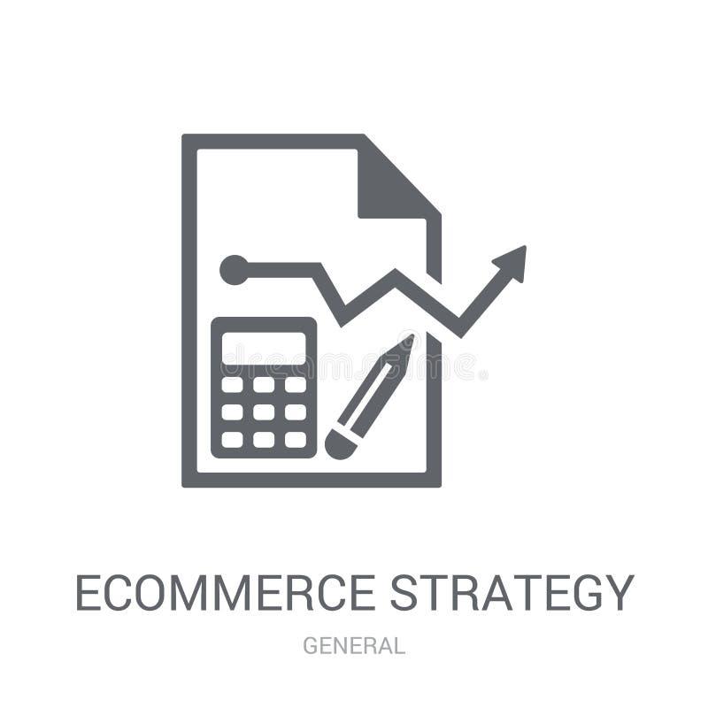 icona di strategia di commercio elettronico  royalty illustrazione gratis