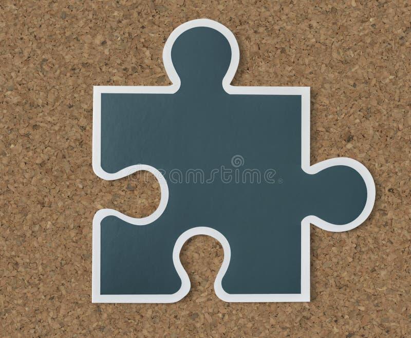 Icona di strategia del pezzo del puzzle illustrazione vettoriale