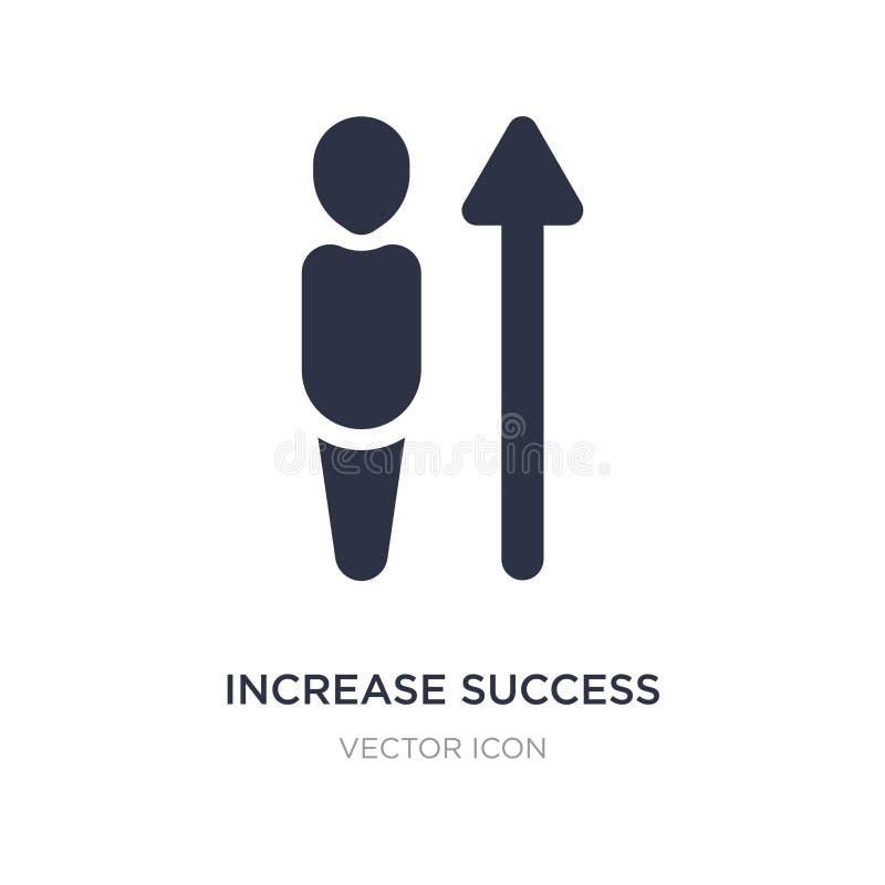 icona di successo di aumento su fondo bianco Illustrazione semplice dell'elemento dal concetto di UI royalty illustrazione gratis