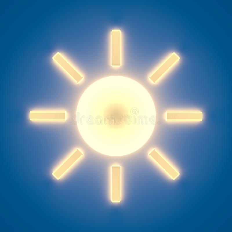 Icona di Sun fotografie stock