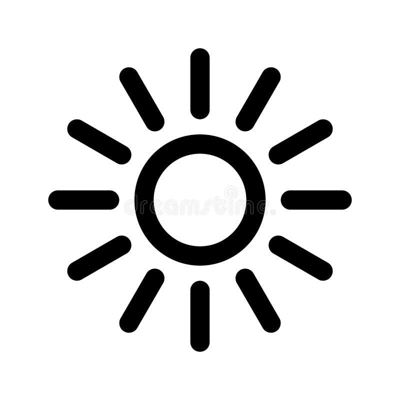 Icona di Sun illustrazione di stock