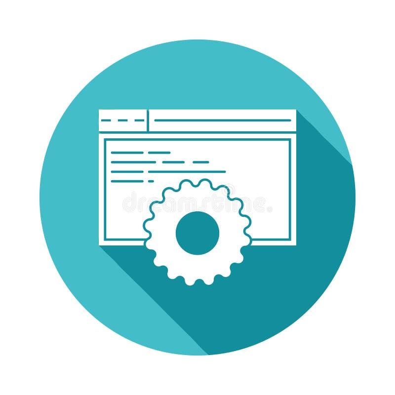 icona di sviluppo del browsersite nello stile lungo piano dell'ombra royalty illustrazione gratis
