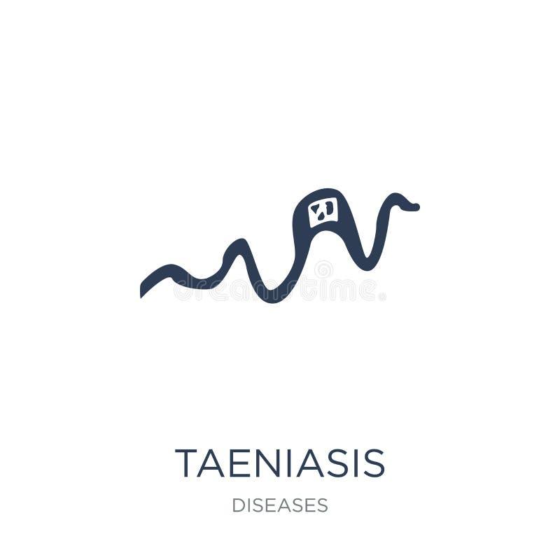 Icona di Taeniasis Icona piana d'avanguardia di Taeniasis di vettore su backg bianco illustrazione di stock