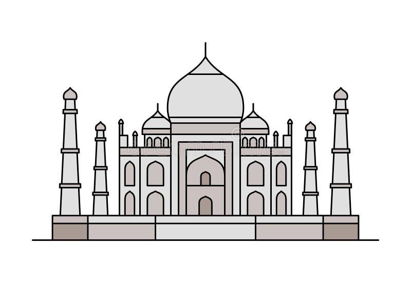 Icona di Taj Mahal Illustrazione di vettore illustrazione vettoriale