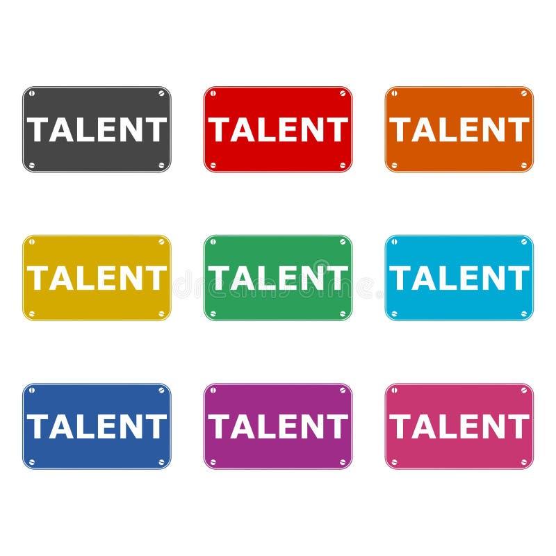 Icona di talento o logo, insieme di colore illustrazione vettoriale