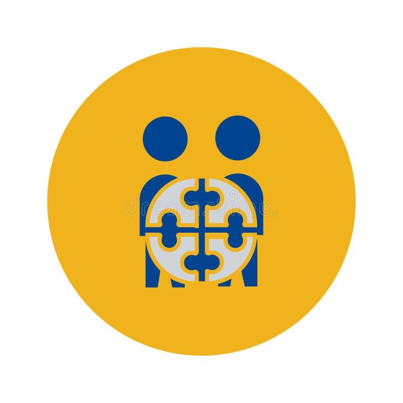 Icona di Team Project simbolo del segno di vettore illustrazione di stock