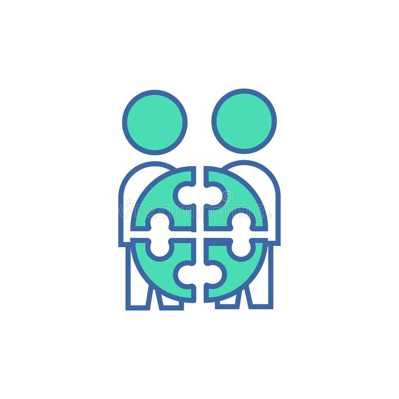 Icona di Team Project simbolo di schema e del diagramma di vettore icona piana di Team Project illustrazione di stock