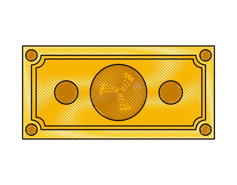 Icona di tecnologia di commercio di Bill iota illustrazione di stock