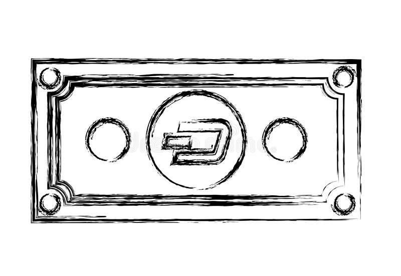 Icona di tecnologia di commercio del un poco di Bill illustrazione vettoriale