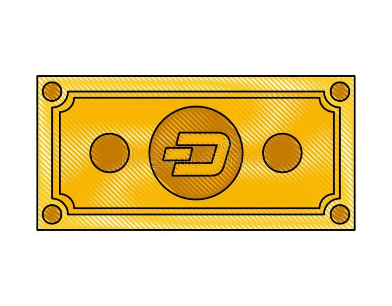 Icona di tecnologia di commercio del un poco di Bill illustrazione di stock