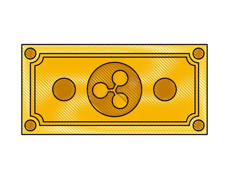 Icona di tecnologia di commercio dell'ondulazione di Bill illustrazione vettoriale