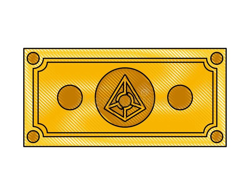 Icona di tecnologia di commercio delle augure di Bill illustrazione vettoriale