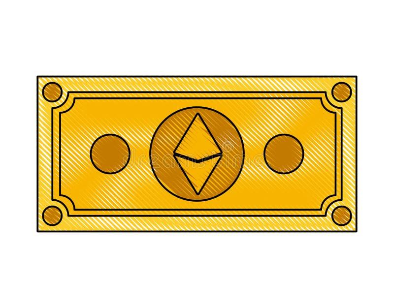 Icona di tecnologia di commercio di etherum di Bill royalty illustrazione gratis