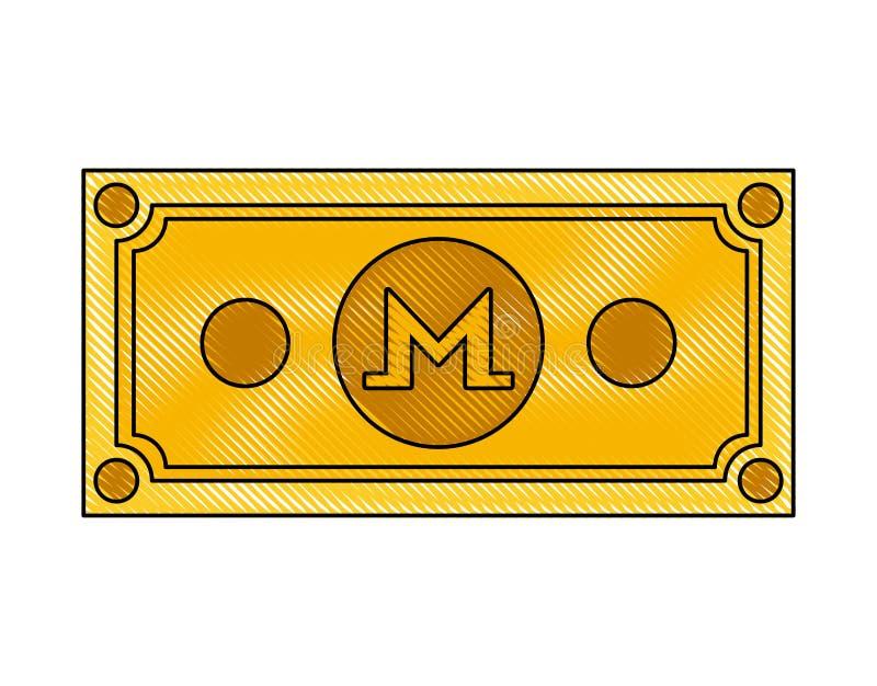 Icona di tecnologia di commercio di monero di Bill royalty illustrazione gratis