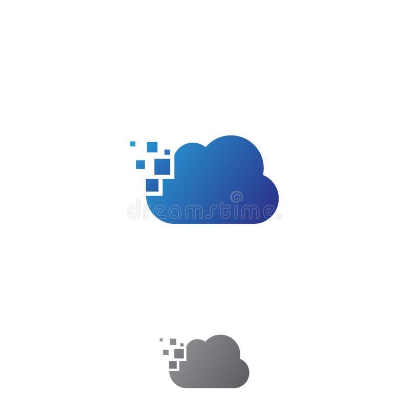 Icona di tecnologia della nuvola nello stile moderno per il web, il grafico e la progettazione mobile illustrazione di stock