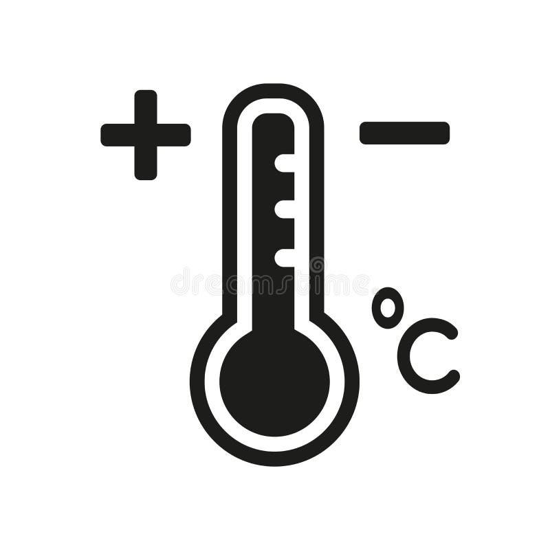 Icona di temperatura  illustrazione vettoriale