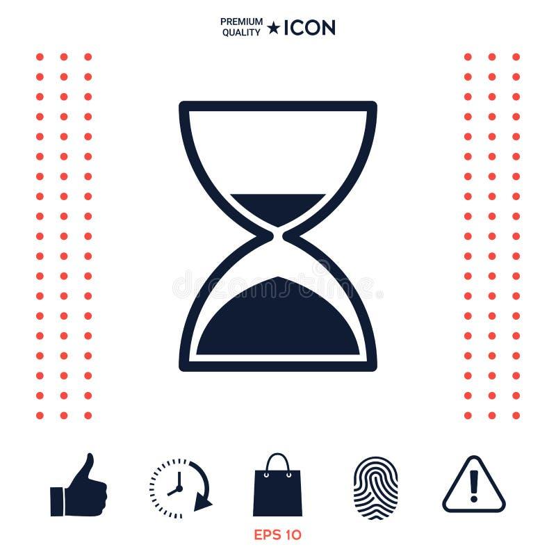 Download Icona Di Tempo Della Clessidra Illustrazione Vettoriale - Illustrazione di countdown, tradizionale: 117975561