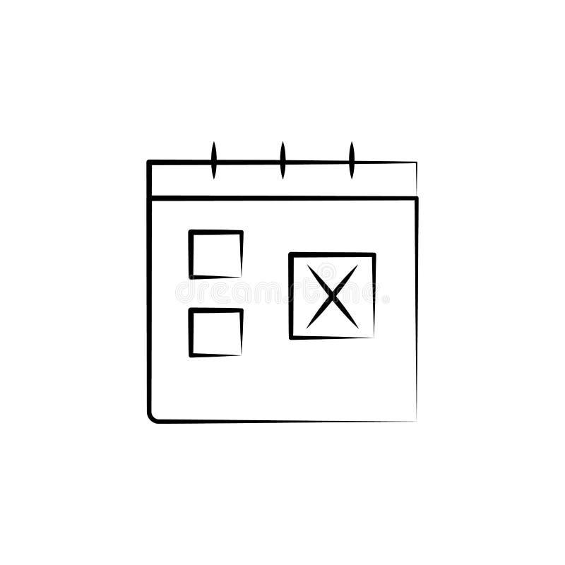 icona di tempo di viaggio del calendario Elemento dell'icona antinvecchiamento per i apps mobili di web e di concetto L'icona di  illustrazione di stock