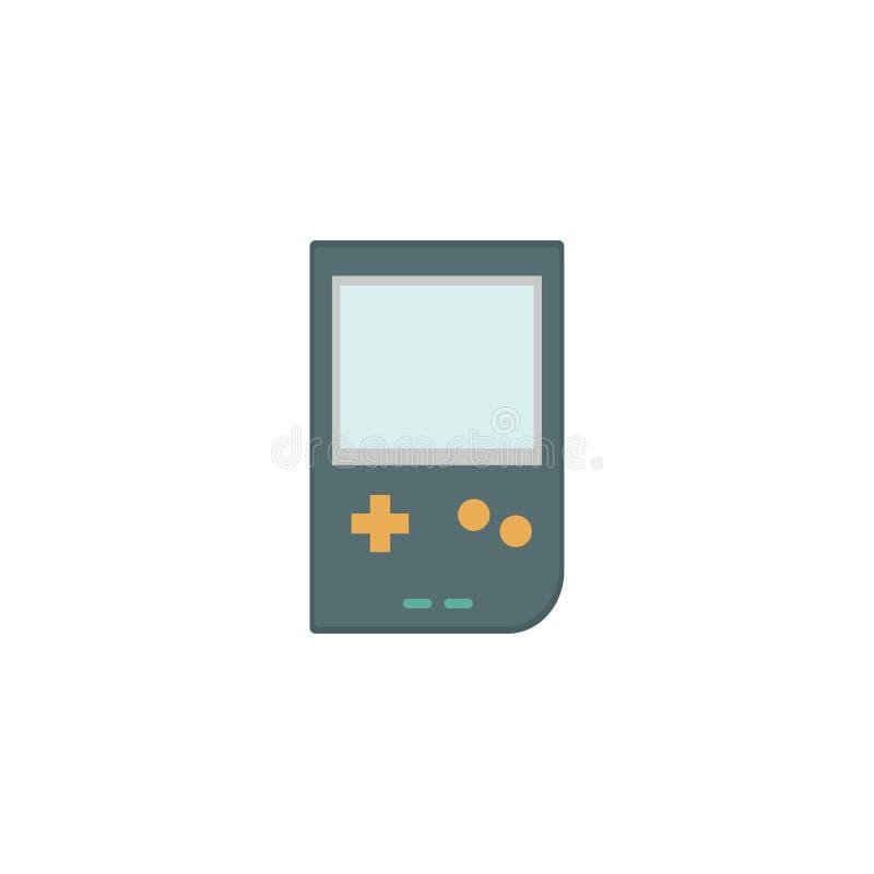 Icona di Tetris, dispositivo del gioco Priorità bassa bianca Illustrazione di vettore ENV 10 illustrazione vettoriale