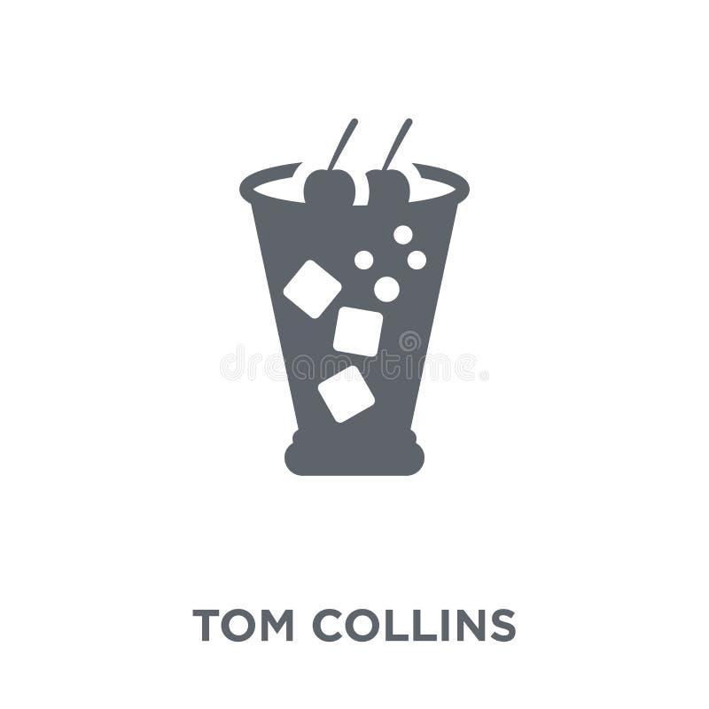 Icona di Tom Collins dalla raccolta delle bevande illustrazione vettoriale