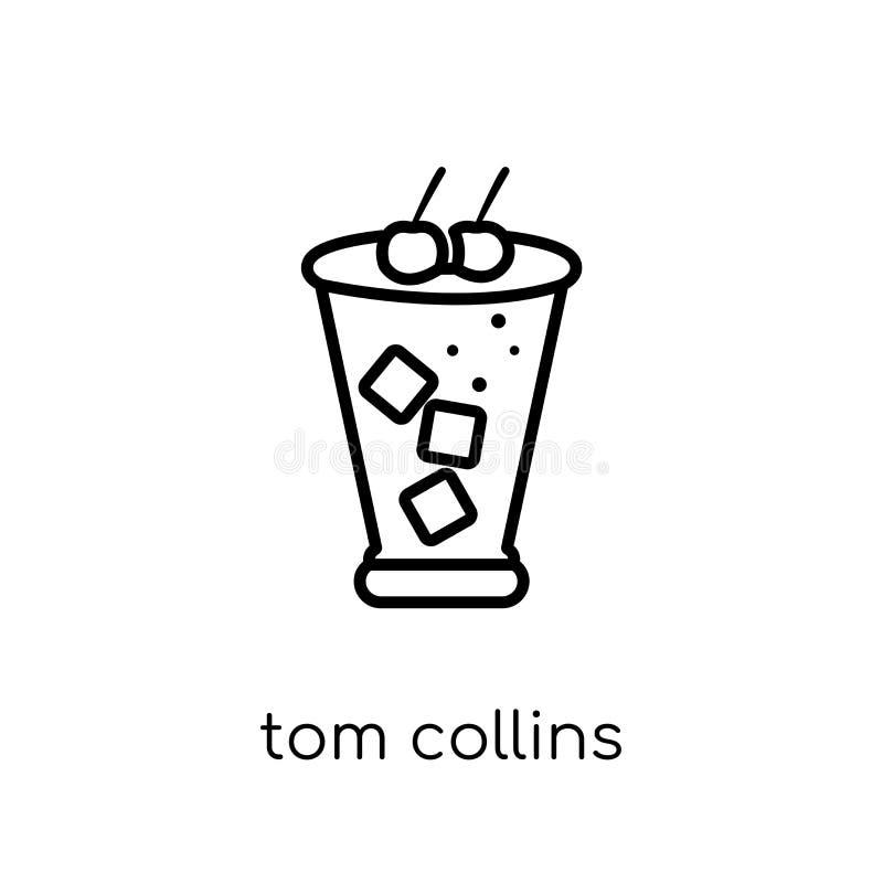 Icona di Tom Collins dalla raccolta delle bevande illustrazione di stock