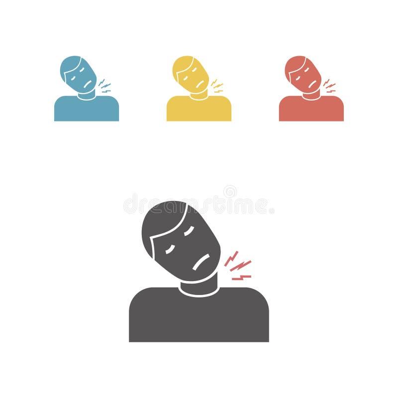 Icona di trauma del collo illustrazione di stock