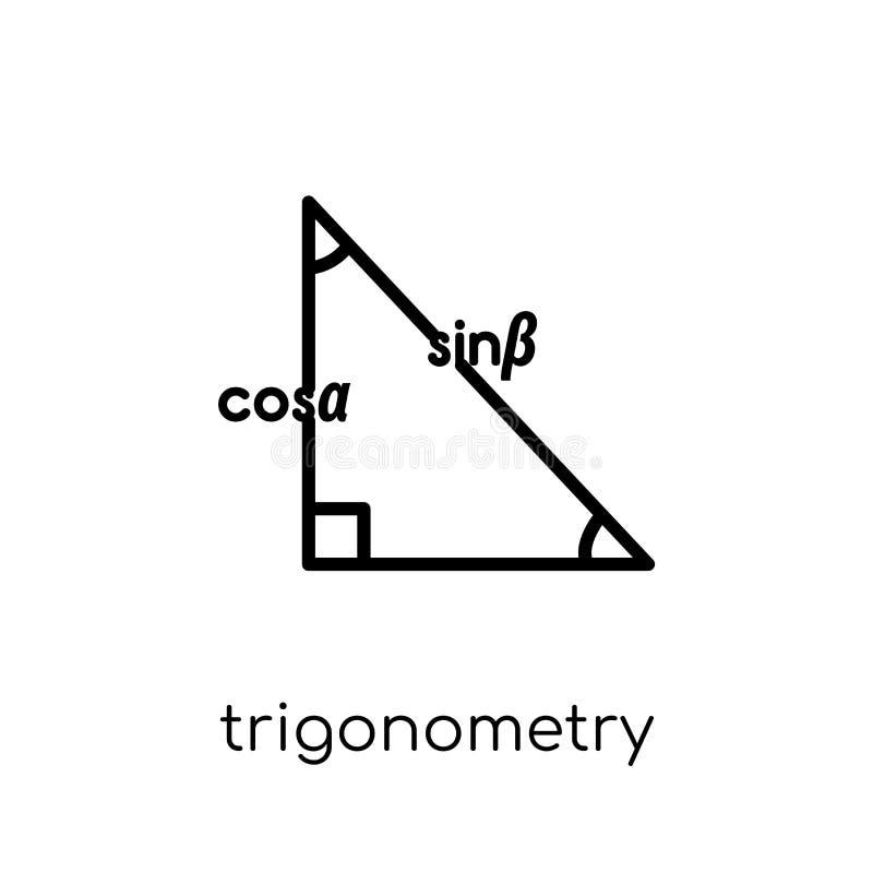 Icona di trigonometria  illustrazione vettoriale