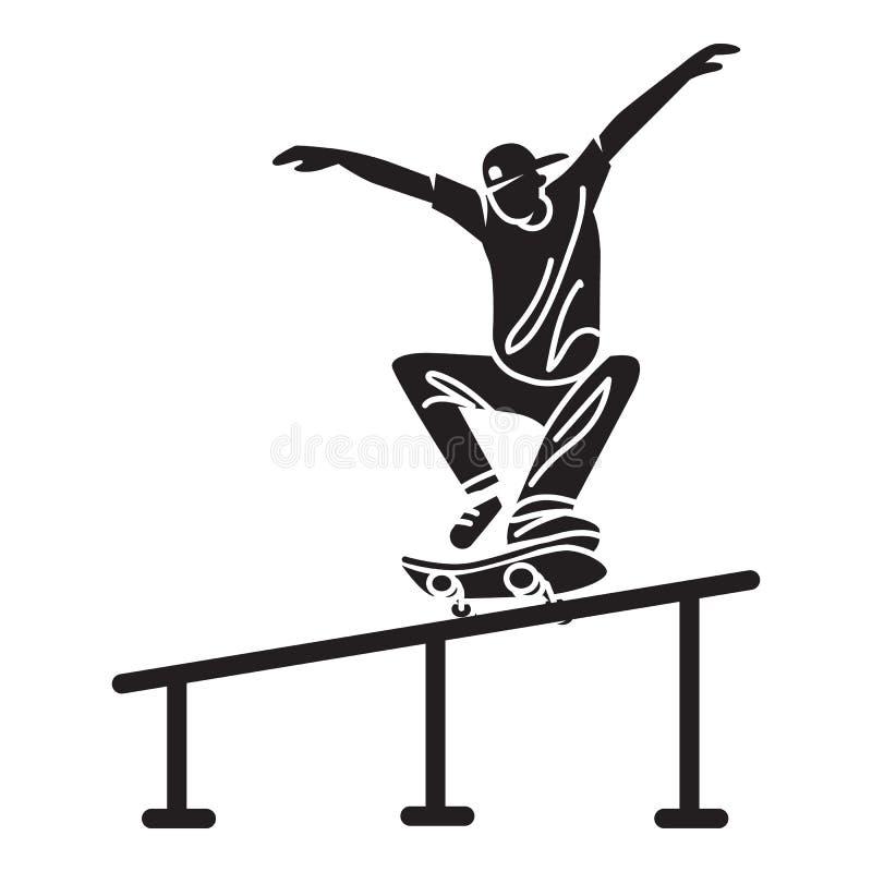 Icona di trucco del tubo del pattinatore, stile semplice royalty illustrazione gratis