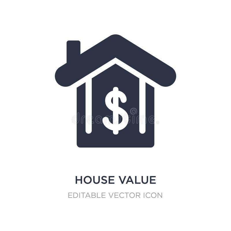 icona di valore della casa su fondo bianco Illustrazione semplice dell'elemento dal concetto di UI illustrazione di stock