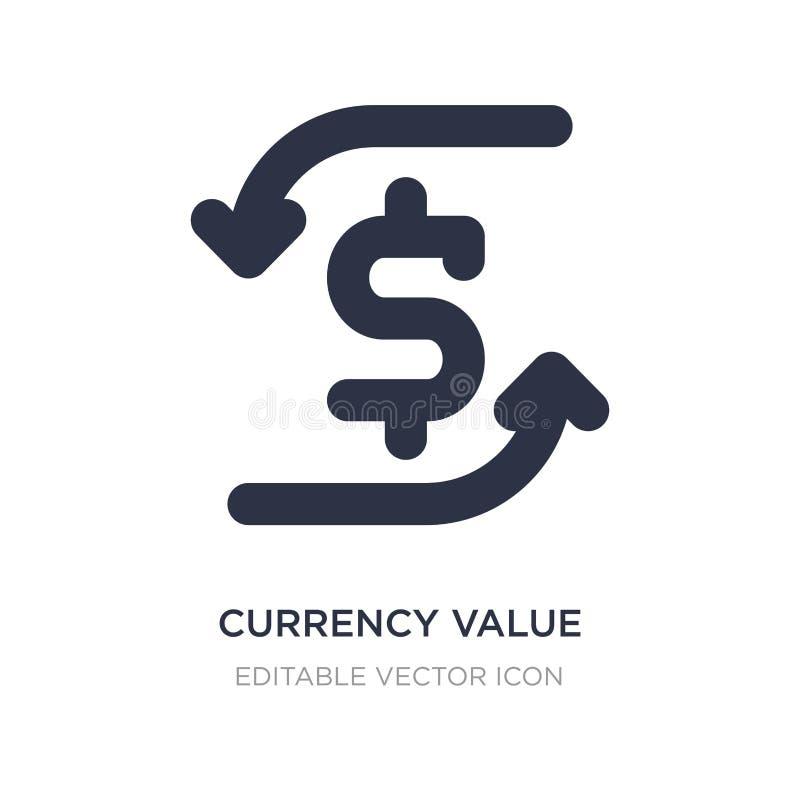 icona di valore di valuta su fondo bianco Illustrazione semplice dell'elemento dal concetto dei segni illustrazione vettoriale