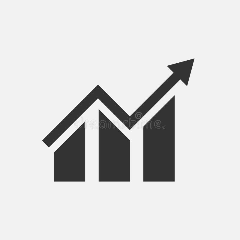 icona di valutazione Grafico di crescita su Icona di vettore del grafico per il sito Web illustrazione di stock