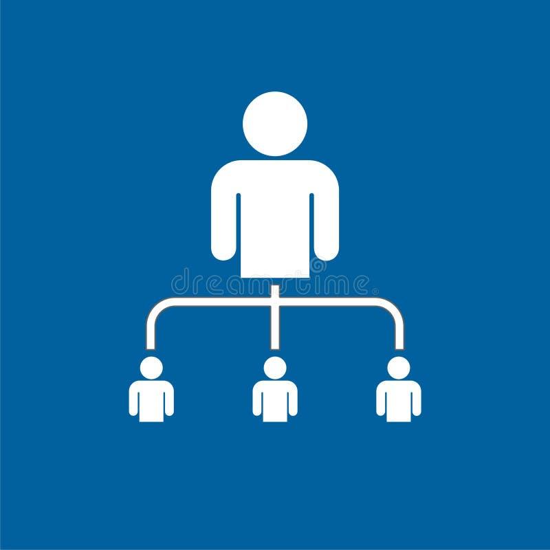Icona di vendita di rinvio, vendita della rete, associazione di affari illustrazione di stock