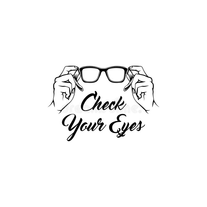 Icona di vetro Assistenza medica Ottico creativo Progettazione di oftalmologia Vettore royalty illustrazione gratis