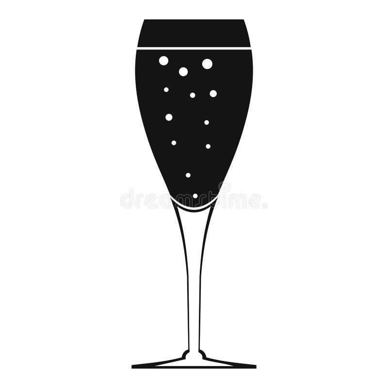 Icona di vetro completa, stile semplice royalty illustrazione gratis