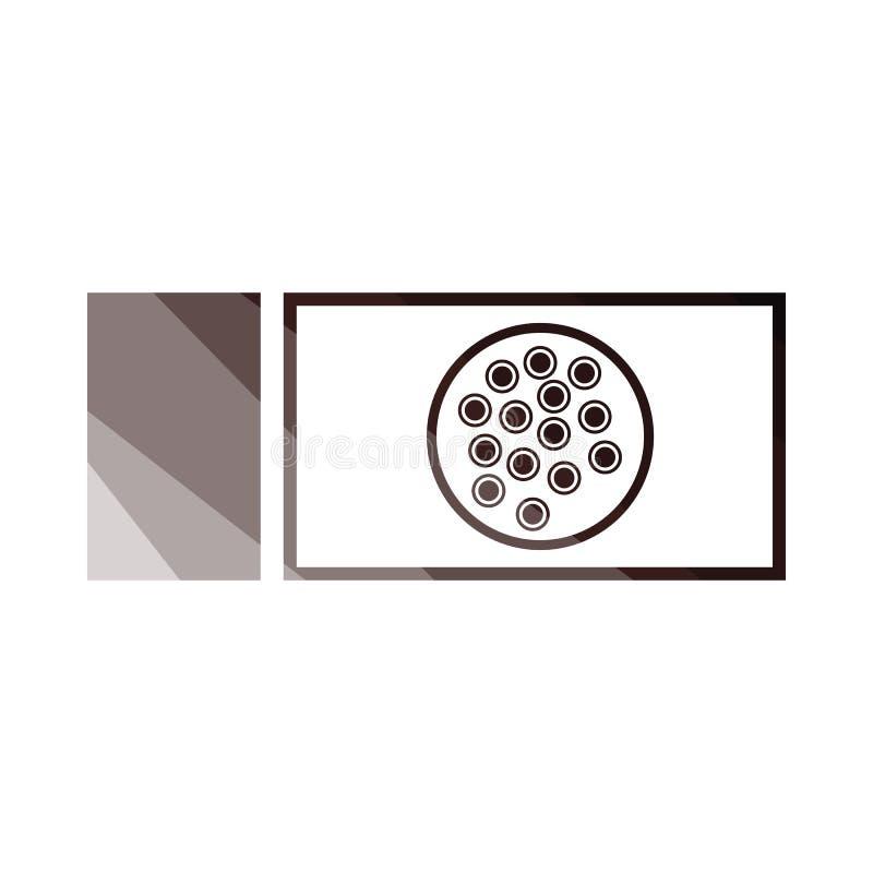 Icona di vetro del batterio royalty illustrazione gratis