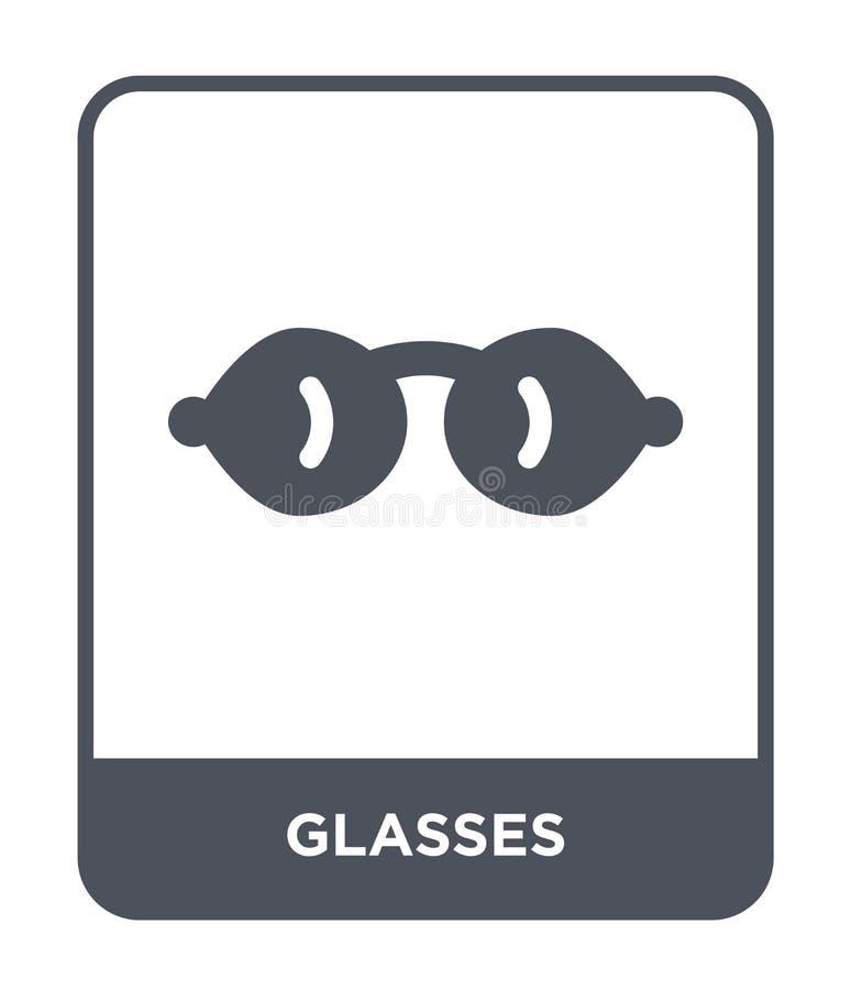 icona di vetro nello stile d'avanguardia di progettazione Icona di vetro isolata su fondo bianco simbolo piano semplice e moderno royalty illustrazione gratis