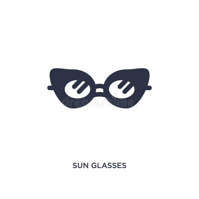 icona di vetro di sole su fondo bianco Illustrazione semplice dell'elemento dal concetto di brazilia royalty illustrazione gratis