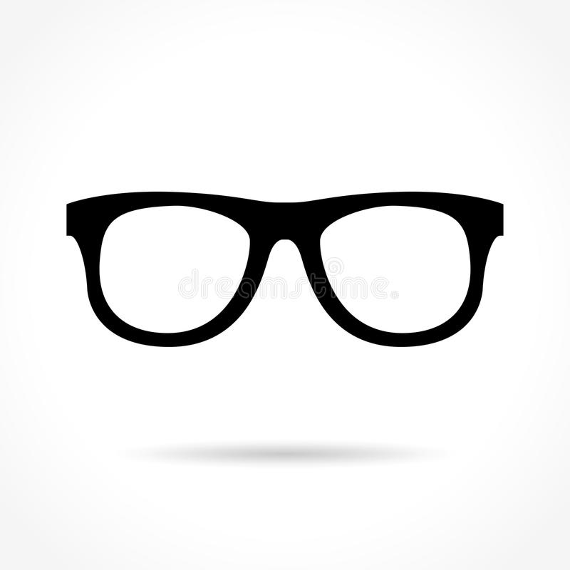 Icona di vetro su fondo bianco illustrazione di stock