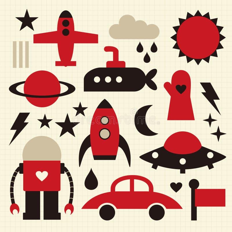 Icona di vettore illustrazione di stock