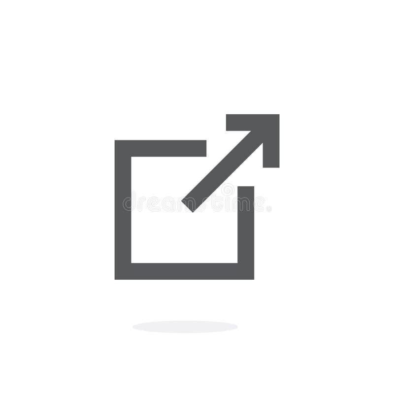 Icona di vettore di collegamento illustrazione di stock