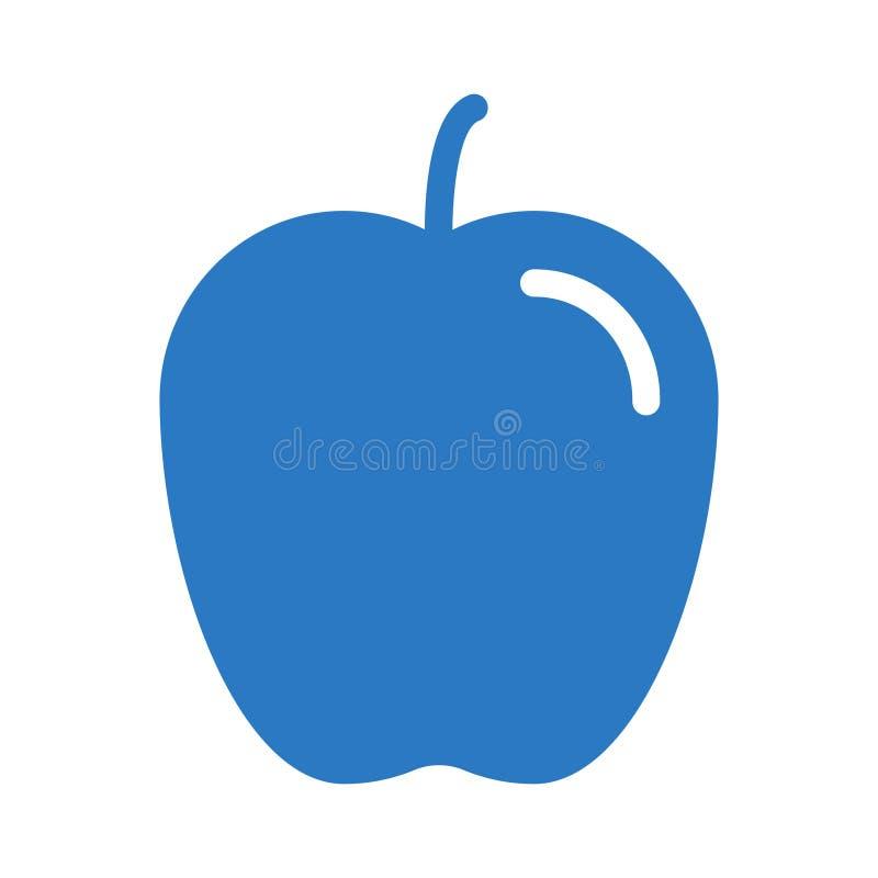 Icona di vettore di colore di glifo di Apple royalty illustrazione gratis