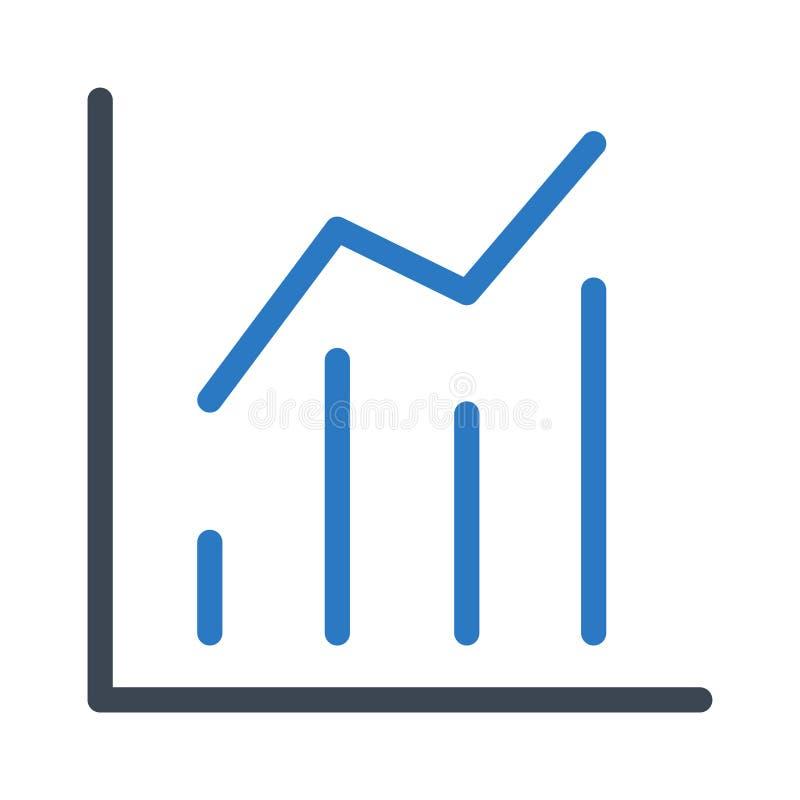Icona di vettore di colore di glifo del grafico fotografia stock libera da diritti