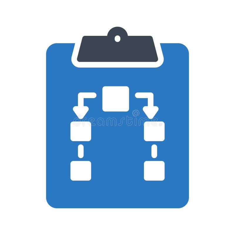 Icona di vettore di colore di glifo della lavagna per appunti illustrazione di stock
