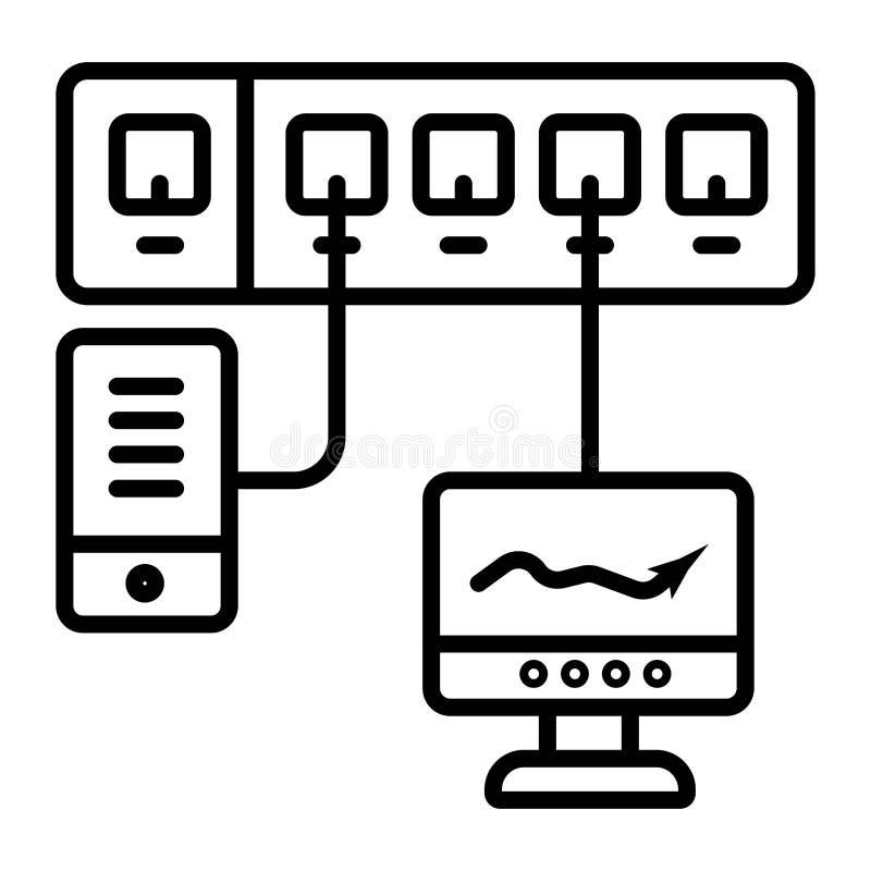 Icona di vettore di comunicazione della rete di computer illustrazione di stock