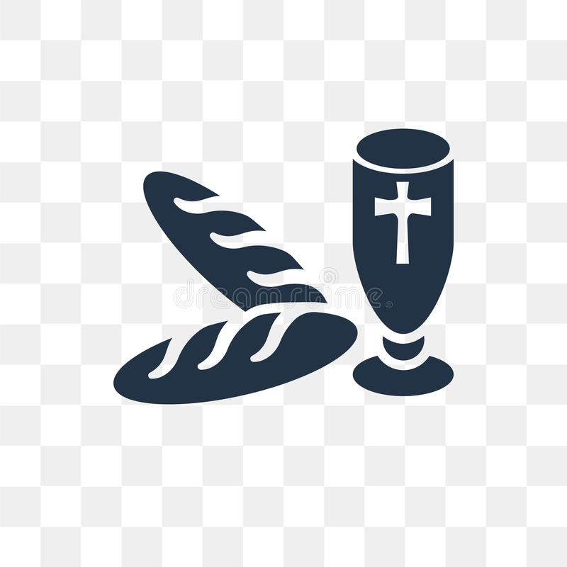 Icona di vettore di comunione isolata su fondo trasparente, Commun illustrazione di stock